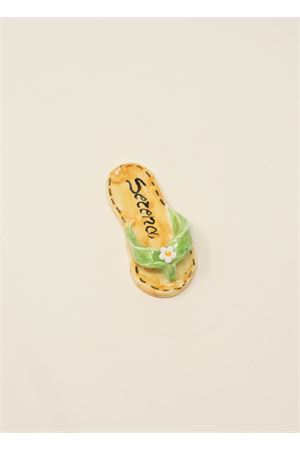 calamita personalizzabile a forma di sandaletto caprese verde Ceramicapri | 20000005 | SANDALETTIMAGNETEVERDE