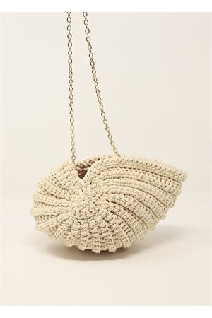 borsa in crochet a forma di conchiglia beige Ceramicapri | 31 | SHELLBAGBEIGE
