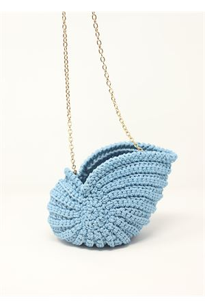 Light blue shell-shaped bag  Ceramicapri | 31 | SHELLBAGCELESTE
