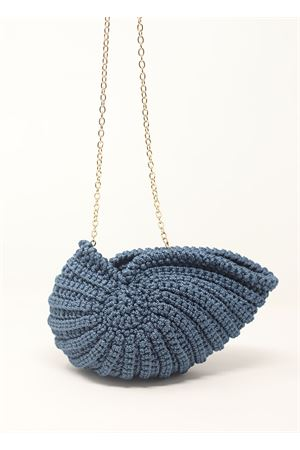 Blue crochet bag shall-shaped Ceramicapri | 31 | SHELLBAGPETROLIO