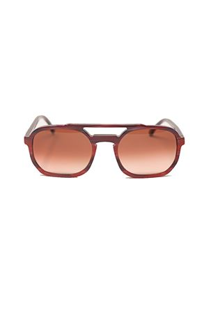 red unisex sunglasses Cimmino Lab | 53 | CETRELLAREDSTRIPED