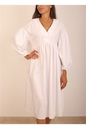 White dress with baloon sleeves Colori Di Capri | 5032262 | ABITOMANICALUNABIANCO