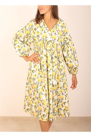Puff sleeves dress with lemons pattern Colori Di Capri | 5032262 | ABITOMANICALUNALEMONS