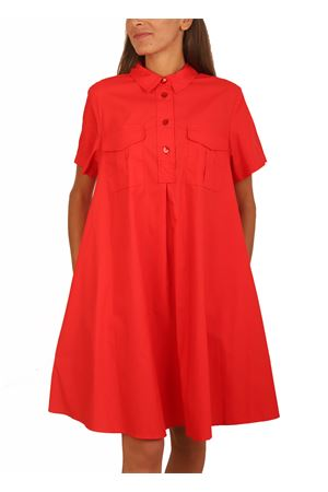 Coral shirt with pockets Colori Di Capri | 5032262 | CAMICIONETUTASCHECORALLO