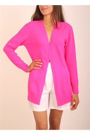 open cardigan in wool and cashemire Colori Di Capri | 39 | CARDIGANAPERTOFUCSIA