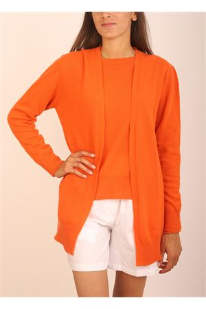 Orange open cardigan wool and cashmere Colori Di Capri | 39 | CARDIGANAPERTORUGGINE