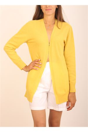 Yellow open cardigan in wool and cashmere Colori Di Capri | 39 | CARDIGANAPERTOSENAPE