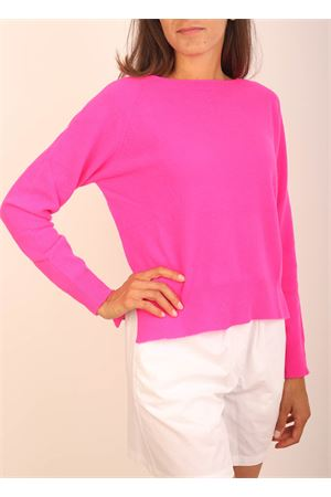 Fuxia crewneck in wool and cashmere  Colori Di Capri | 7 | GIROCOLLOFUXIA
