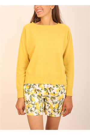 Mustard crewneck in cashmere and wool  Colori Di Capri | 7 | GIROCOLLOSENAPE
