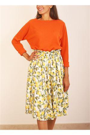 Full-lenght midi skirt with lemons  Colori Di Capri | 15 | GONNARUOTALEMONS