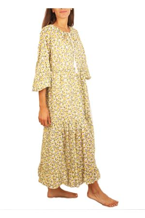 Long flounce dress with lemon pattern Colori Di Capri | 5032262 | VESTITOBALZELEMONS