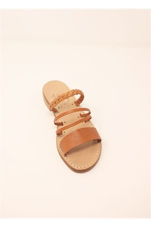 Capri sandals with comfortable heel  Cuccurullo | 5032256 | 4FASCETRECCIAVACCHETTA