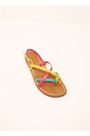 Multicolored capri sandals for baby girl  Cuccurullo | 5032256 | MULTICOLORBABYGIALLO