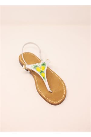 Capri sandals with painting of lemons  Cuccurullo | 5032256 | PAINTEDLEMONSLIMONI