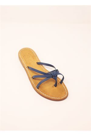 Blue capri sandals with knot  Cuccurullo | 5032256 | PANTOFOLINANODOBLU