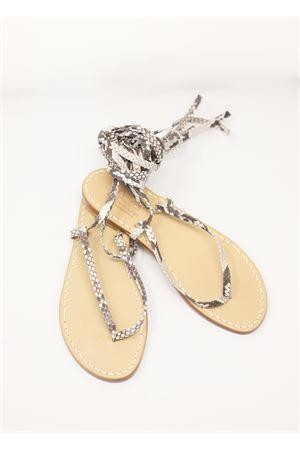 Python skin slave style Capri sandals  Cuccurullo | 5032256 | SCHIAVAPITONEPITONE