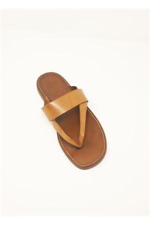 sandali infradito da uomo in cuoio Cuccurullo | 5032256 | TAPERTAMARRONE/CUOIO