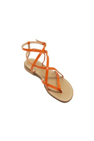 Capri sandals high at the ankle Da Costanzo | 5032256 | 2245ARANCIO