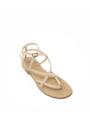 Capri sandals high at the ankle Da Costanzo | 5032256 | 2245AVORIO