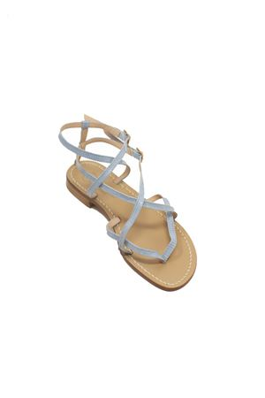 Light blue Capri sandals ankle high  Da Costanzo | 5032256 | 2245TURCHESE