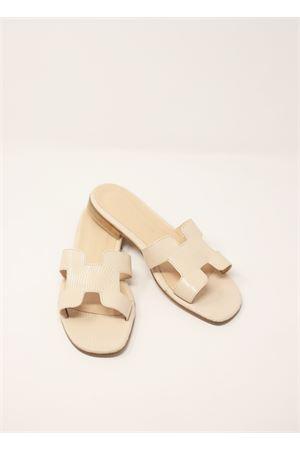 Sandali capresi modello H color avorio Da Costanzo | 5032256 | 2508AVORIO