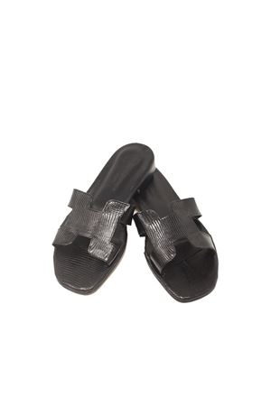 Black Capri sandals H model  Da Costanzo | 5032256 | 2508NEROCOCCO