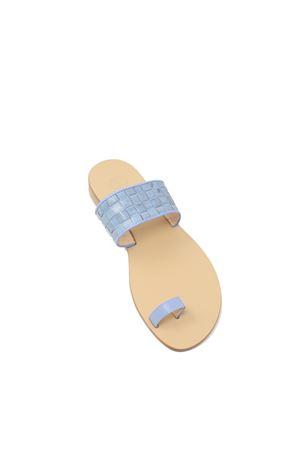 Denim color leather Capri sandals  Da Costanzo | 5032256 | 2803JEANS