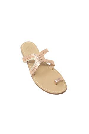 Sandali in pelle lucida rosata Da Costanzo | 5032256 | 2829ROSATO