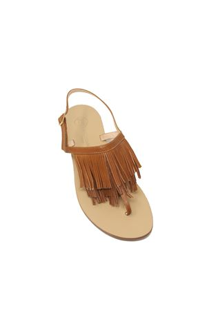 Brown leather sandals with fringes Da Costanzo | 5032256 | 2852/CCUOIO