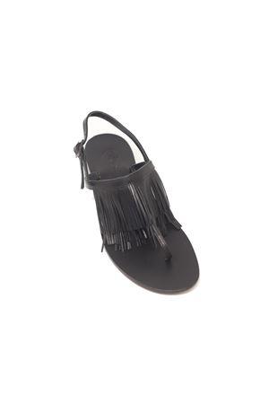 Sandali capresi neri con frange Da Costanzo | 5032256 | 2852/CNERO