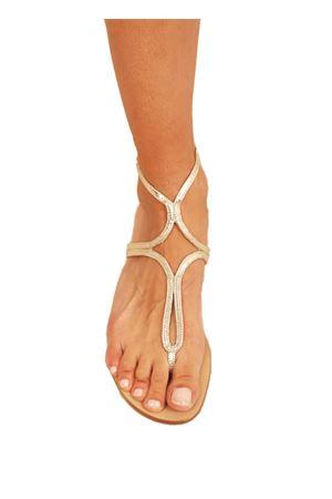 Sparkling gold Capri sandals from Da Costanzo Capri  Da Costanzo | 5032256 | 2863/BRPLATINO
