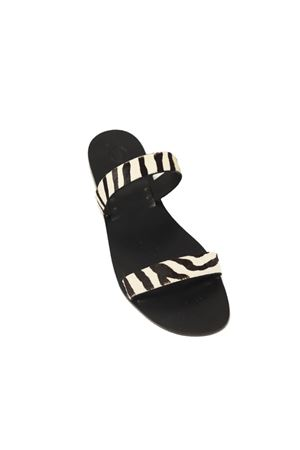 low striped sandals Da Costanzo | 5032256 | FASCEZEBRAZEBRA