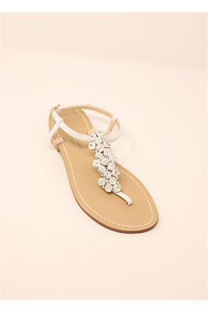Sandali bassi gioiello da sposa Da Costanzo | 5032256 | HALF3099BIANCO