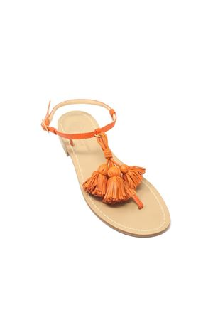Orange Capri sandals with tassels  Da Costanzo | 5032256 | NAPPINEGRARANCIOARANCIO