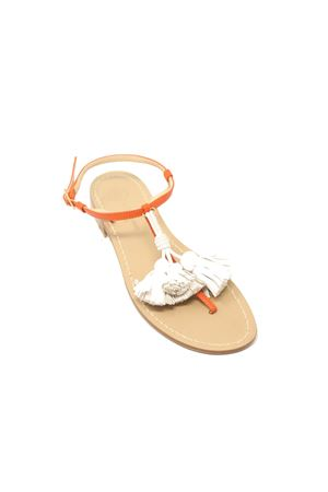 Orange and white capri sandals  Da Costanzo | 5032256 | NAPPINEGRARANCIOBIANCO