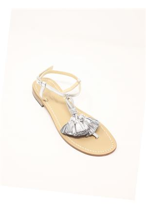 Silver sandals with tassels Da Costanzo | 5032256 | NAPPINEGRARGENTOARGENTO