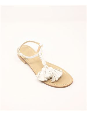 White sandals with tassels  Da Costanzo | 5032256 | NAPPINEGRBIANCOBIANCO