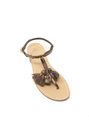 Bronze Capri sandals with tassels  Da Costanzo | 5032256 | NAPPINEGRBRONZOBRONZO