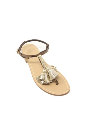 Sandali donna con nappine platino Da Costanzo | 5032256 | NAPPINEGRBRONZOPLATINO