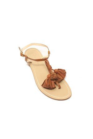 Sandali cuoio con nappe decorative Da Costanzo | 5032256 | NAPPINEGRCUOIOCUOIO