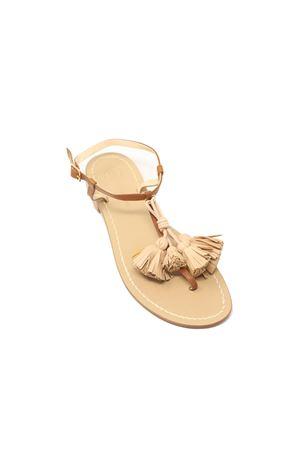 sandali donna con nappine naturali Da Costanzo | 5032256 | NAPPINEGRCUOIOVACCHETTANATURALE