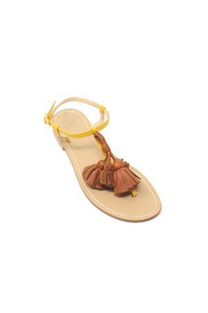 Yellow capri sandals with leather tassels Da Costanzo | 5032256 | NAPPINEGRGIALLOCUOIO