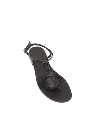 Sandali neri con nappe nere Da Costanzo | 5032256 | NAPPINEGRNERONERO
