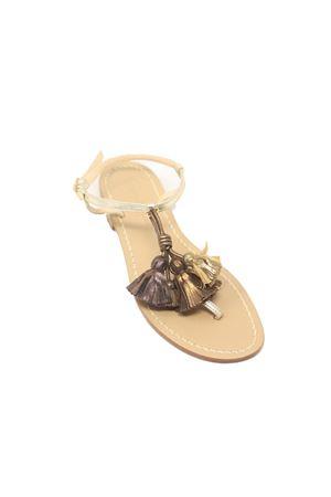 Sandali platino con nappe bronzo Da Costanzo | 5032256 | NAPPINEGRPLATINOBRONZO