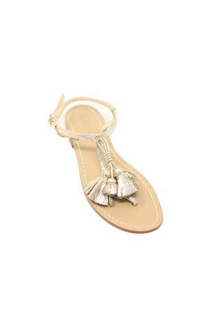 Sandali bassi oro con nappine Da Costanzo | 5032256 | NAPPINEGRPLATINPLATINO