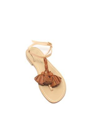 sandali donna con nappine cuoio Da Costanzo | 5032256 | NAPPINEGRVACCHETTANATCUOIO
