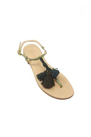 sandali donna con nappine verdi Da Costanzo | 5032256 | NAPPINEGRVERDEMILVERDE