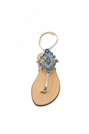 Blue jewel sandals high at the ankle Da Costanzo | 5032256 | ROMBOBIGBLU