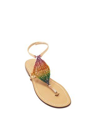Sandali gioiello alti alla caviglia con pelle rosa laminato Da Costanzo | 5032256 | ROMBORAINBOWROSA