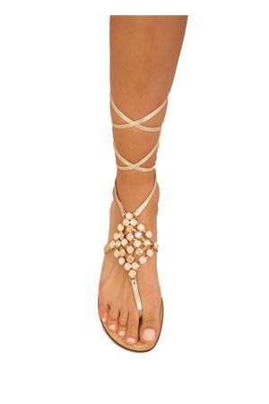 Ivory slave jewel sandals  Da Costanzo | 5032256 | ROMBOSCHIAVAIVORY